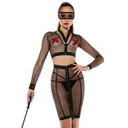 Devilish Dominatrix Fishnet Set