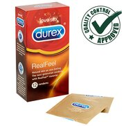 Durex Real Feel Latex Free Condoms - 12 pack