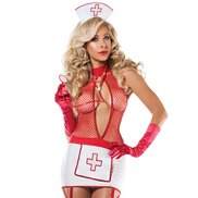 Heartbreaker Fishnet Nurse Set