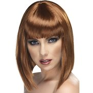 Alluring Asymmetric Bob Wig with Full Fringe