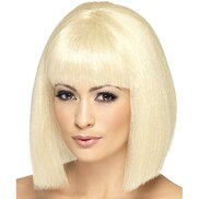 Blonde Bombshell Short Wig with Full Fringe