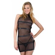 Bondara Black Sheer Strappy Back Dress