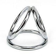 Bound to Please Stainless Steel Triple Cock Ring