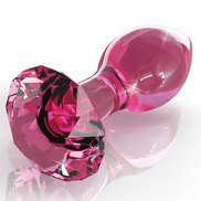 Icicles No. 79 Pink Glass Butt Plug – 3.6 Inch