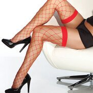 Coquette Red Wide Net Hold Ups