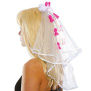 Bachelorette Party Pecker Clip Veil