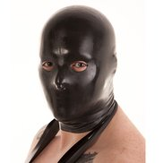 Bondara Latex Black Unisex Hood