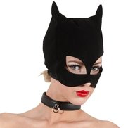 Bad Kitty Faux Leather Cat Mask