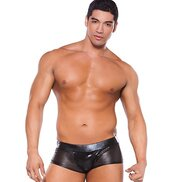 Zeus Wet Look and Mesh Boxer Shorts