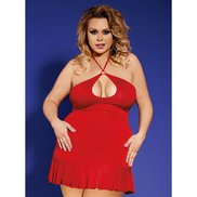 Bondara Plus Size Keyhole Dress