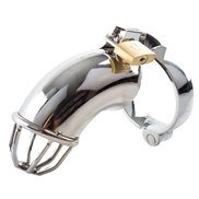 Bondara Stainless Steel Exhibition Chastity Cage