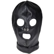 Bondara Black Open Mouth and Eyes Hood