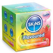 Skins Assorted Flavoured Condoms - 16 Pack