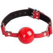 Bondara Luxe Red Nubuck Leather Ball Gag